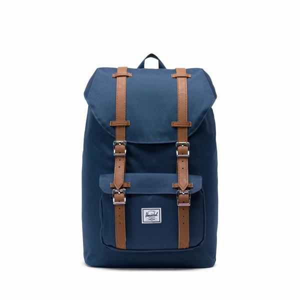 batoh Herschel Supply LITTLE AMERICA MID-VOLUME Navy/Tan
