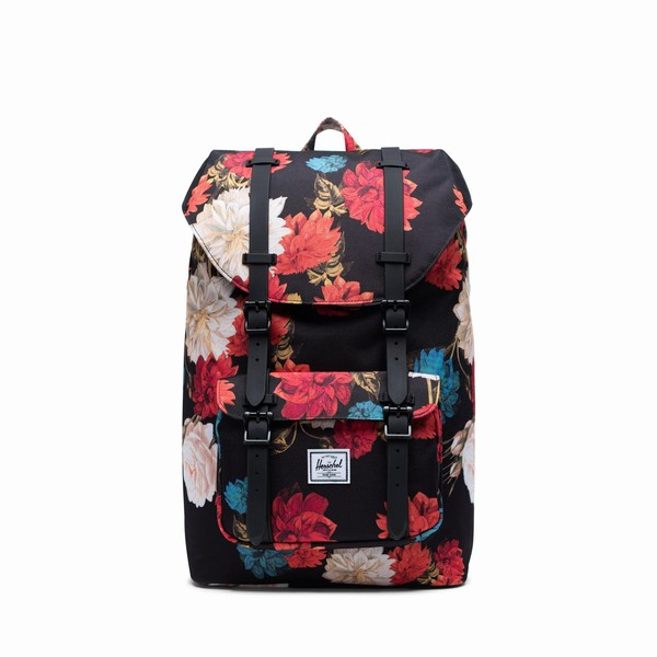 batoh Herschel Supply LITTLE AMERICA MID-VOLUME Vintage Floral Black