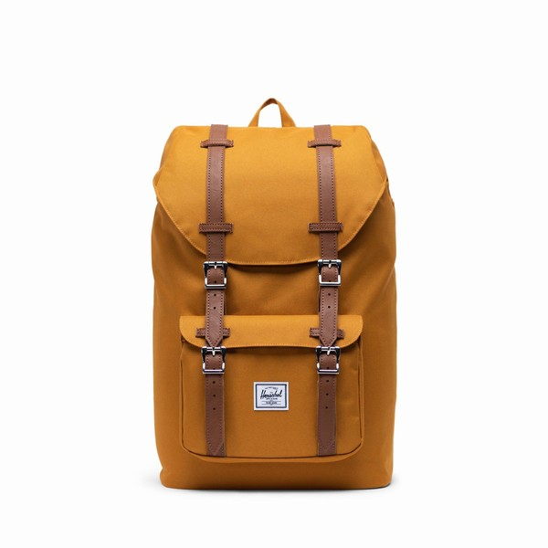 hnědý batoh Herschel Supply LITTLE AMERICA MID-VOLUME BUCKTHORN BROWN