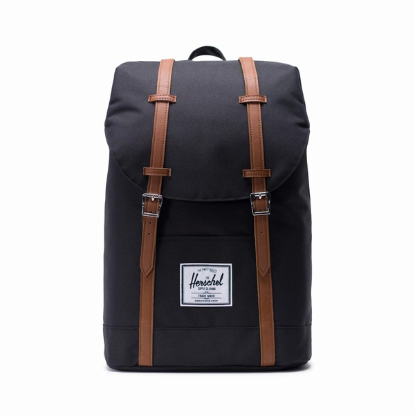 černý batoh Herschel Supply RETREAT Black/Tan