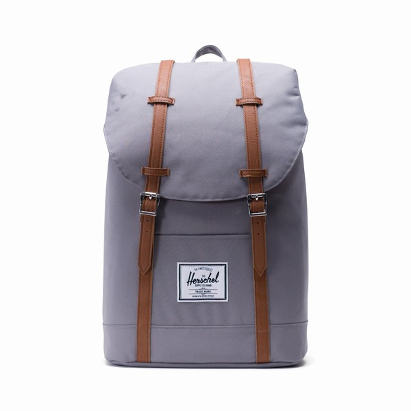 šedý batoh Herschel Supply RETREAT Grey/Tan