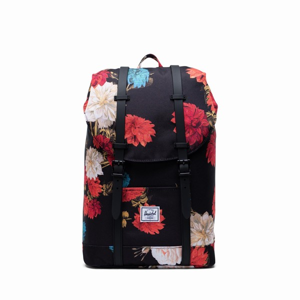 batoh Herschel Supply RETREAT MID-VOLUME Vintage Floral Black