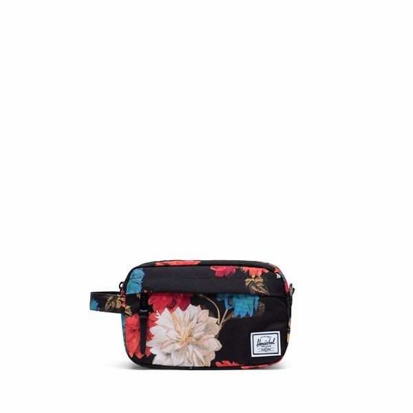 kosmetička Herschel Supply CHAPTER CARRY-ON Vintage Floral Black