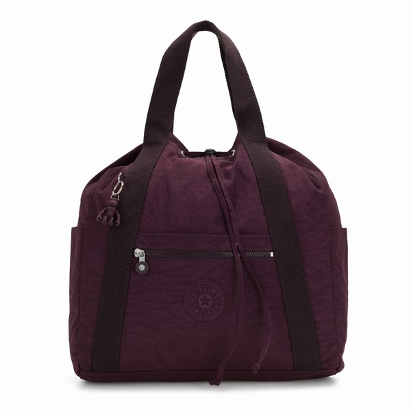 batoh 2v1 Kipling ART BACKPACK M DARK PLUM