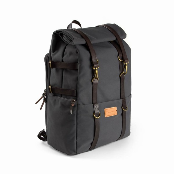 KARL 48H TRAVEL BACKPACK - Stone Blue Dark Brown Property of... cestovní  batoh ... ab9a56de68