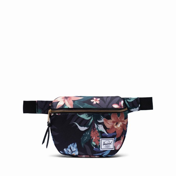 ledvinka s květinami Herschel Supply FIFTEEN SUMMER FLORAL BLACK