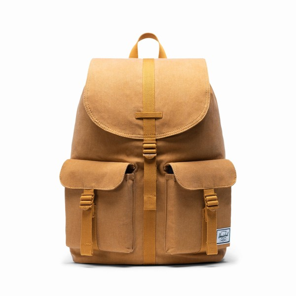 batoh na notebook žlutý Herschel Supply Dawson Cotton Buckthorn Brown