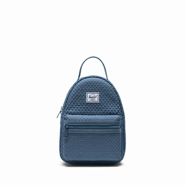 mini městský batoh Herschel Supply NOVA MINI WOVEN BLUE MIRAGE