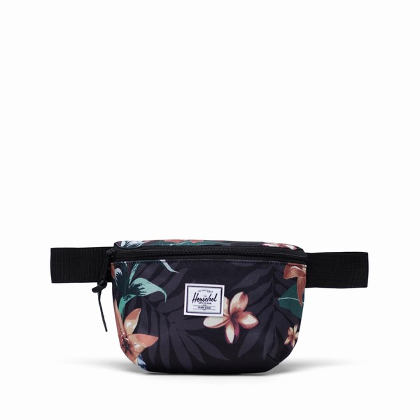 ledvinka s květinami Herschel Supply FOURTEEN SUMMER FLORAL BLACK
