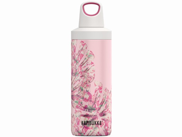 růžová termoláhev Kambukka RENO Insulated 500ml - Monstera Leaves