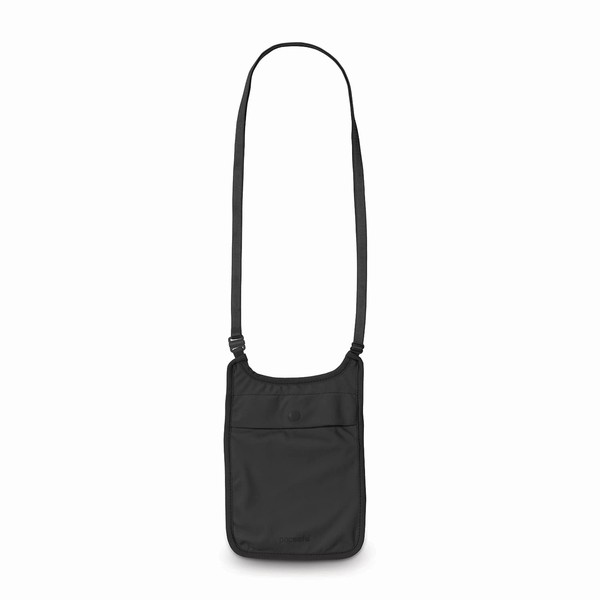 taška na doklady Pacsafe COVERSAFE S75 NECK POUCH black