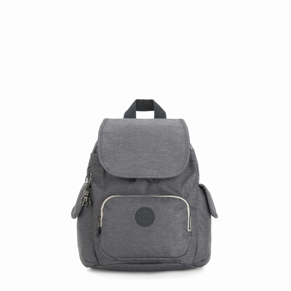 šedý batoh Kipling CITY PACK MINI Charcoal